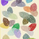 Coloured Leaf Pattern 2677 Views by aldona