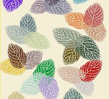 Coloured Leaf Pattern 2502 Views by aldona