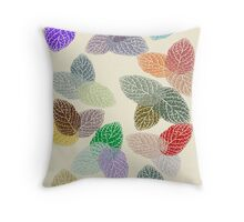 Coloured Leaf Pattern 2677 Views Throw Pillow