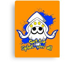Gotta Splat em' all! Blue Canvas Print
