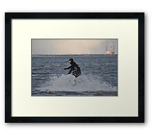 A cold winters day at Cleethorpes Framed Print