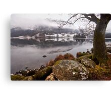 Winter at Rydal water Canvas Print