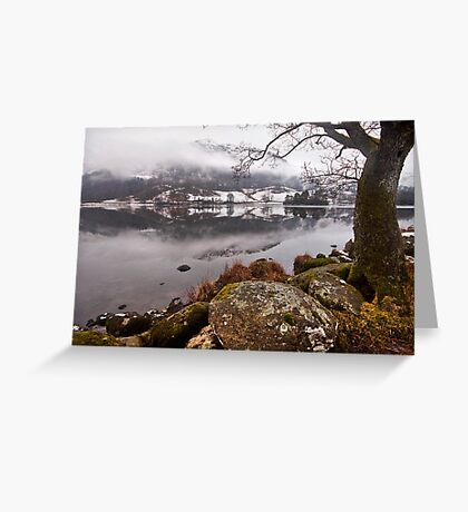 Winter at Rydal water Greeting Card