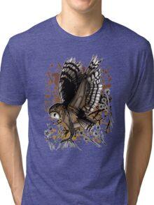 Barn Owl Stance (2) Tri-blend T-Shirt