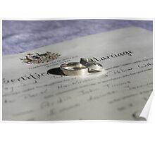 Wedding certificate  Poster