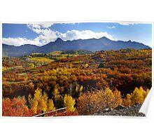 San Juan mountains scenic area Poster