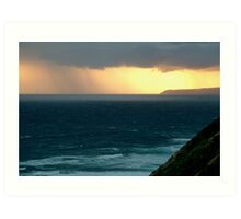 Sunset Rain, Cape Otway,Great Ocean Road Art Print