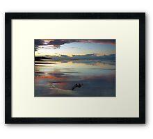 Seaweed sand and sky Framed Print