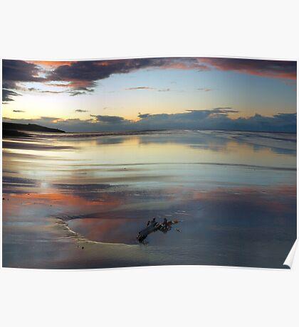 Seaweed sand and sky Poster