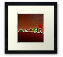 It Was Thanksgiving And They Were All There Framed Print