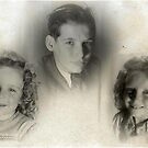 1948 Me and my sisters by Woodie