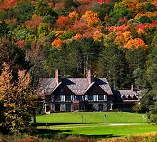 Red house in Allegheny state park by snehit