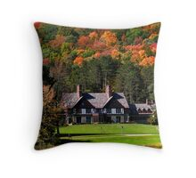 Red house in Allegheny state park Throw Pillow