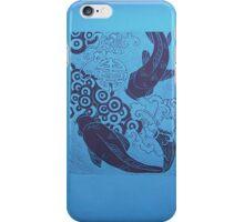 fish in blue iPhone Case/Skin