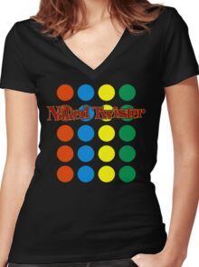 Naked Twister  Women's Fitted V-Neck T-Shirt