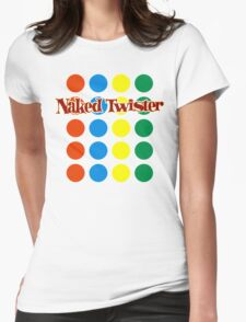 Naked Twister  Womens Fitted T-Shirt