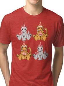 Party Hat Tigers and Wolves Tri-blend T-Shirt