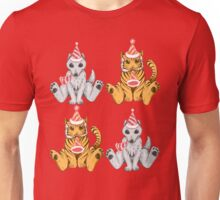 Party Hat Tigers and Wolves Unisex T-Shirt