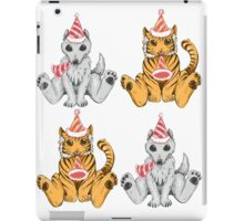 Party Hat Tigers and Wolves iPad Case/Skin