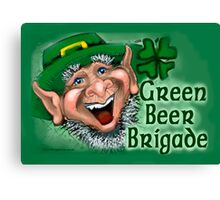 Green Beer Brigade Canvas Print