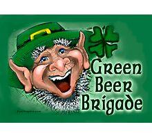 Green Beer Brigade Photographic Print