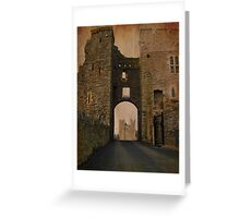 Swords Castle gate Greeting Card