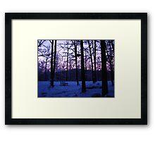 COLD Winter Morning Framed Print