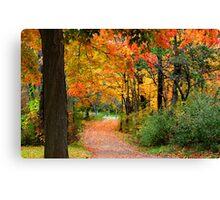 Colorful Autumn Scene Canvas Print