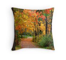 Colorful Autumn Scene Throw Pillow