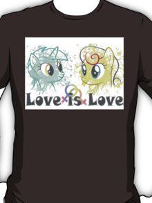 Lyra and Bonbon - Love is Love t-shirt/hoodie T-Shirt