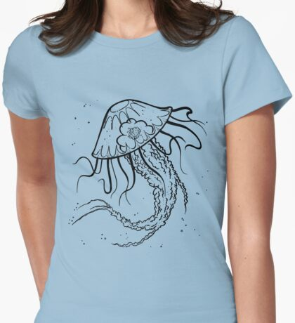 Wandering Jellyfish Womens Fitted T-Shirt