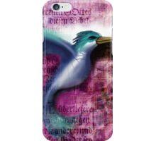 Hummingbird in letters iPhone Case/Skin