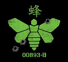 Heisenberg 'Golden Moth' Chemical Logo Shot with Bullet Holes by 0cdc