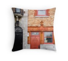 Orange Facade Throw Pillow