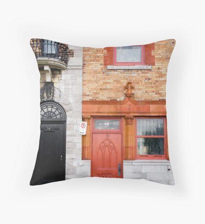 Orange Facade Throw Pillow