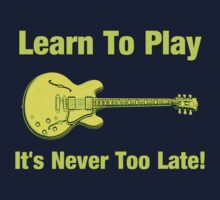 Learn To Play Electric Guitar Baby Tee