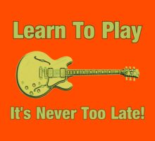 Learn To Play Electric Guitar Kids Clothes