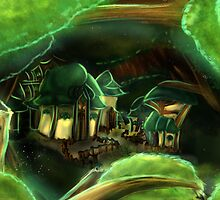 Original Art: Village in the Wood by AvamiiArt
