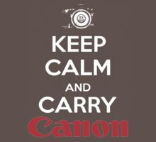 Keep Calm And Carry Canon Kids Clothes