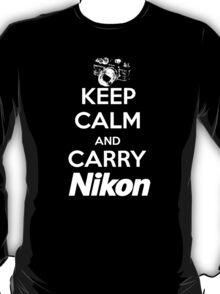 Keep Calm And Carry Nikon T-Shirt