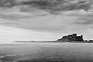 Bamburgh Castle in Black & White by David Lewins