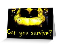 Five Nights at Freddy's: Golden Freddy Greeting Card