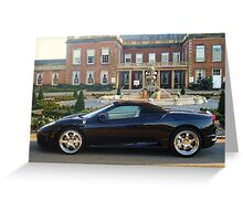 ferrari 430 spider outside country residence Greeting Card