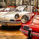 Porsches at an Exhibition by astrolabio