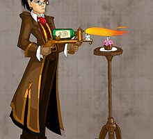 Lighting Candles like an Advanced Gentleman of Technology by LillyKitten
