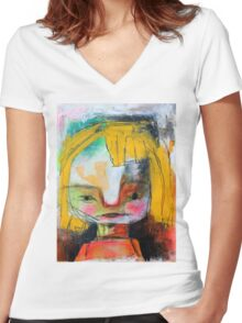 Bratty Women's Fitted V-Neck T-Shirt