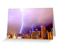 Lightning striking Chicago Greeting Card