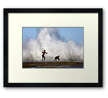 Hold on here it comes Framed Print