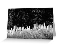 BW Cemetery Greeting Card