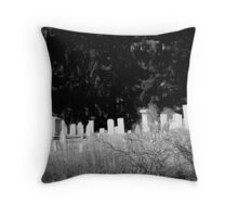 BW Cemetery Throw Pillow